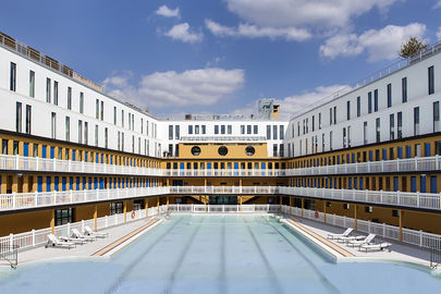 Hotel : Chambres vue piscine extérieure