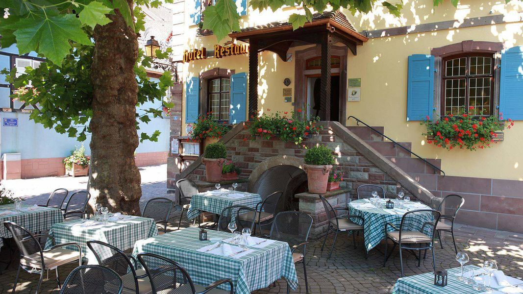 Hôtel Restaurant L'Ami Fritz *** Terrasse