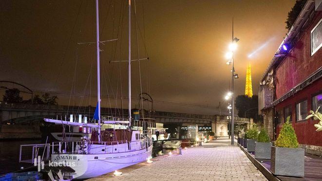 Atelier du France de nuit vue du quai