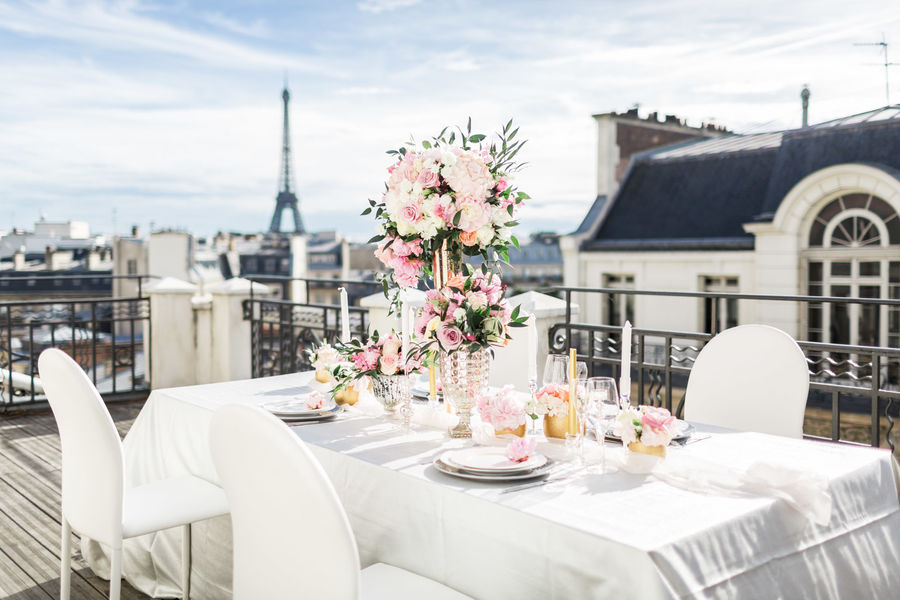 Hôtel Marignan Champs-Elysées ***** Terrasse avec vue sur la Tour Eiffel