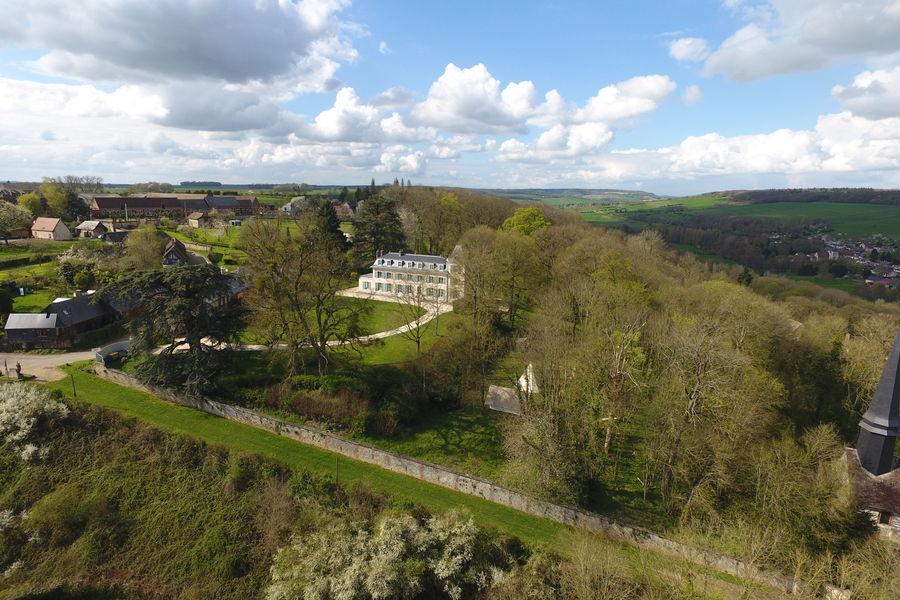 Château d'Amécourt Vue Aérienne du Domaine