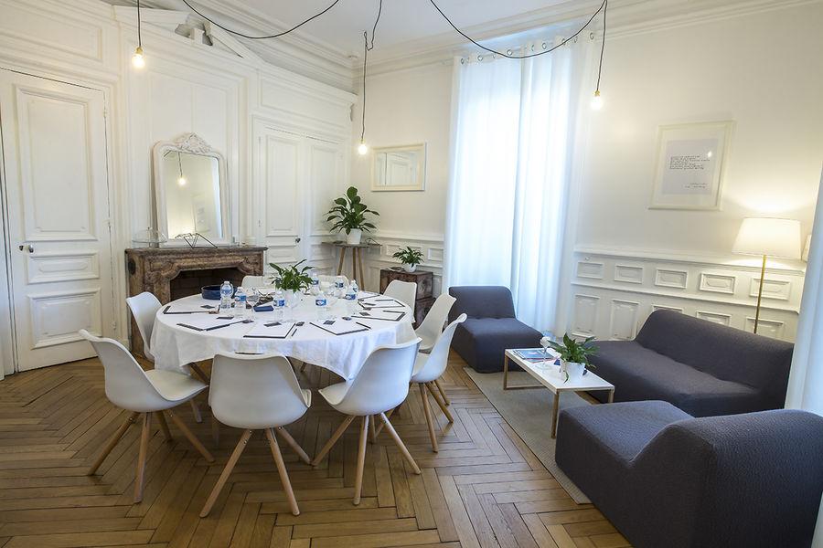 Hôtel Particulier Lyon Salon Blanc