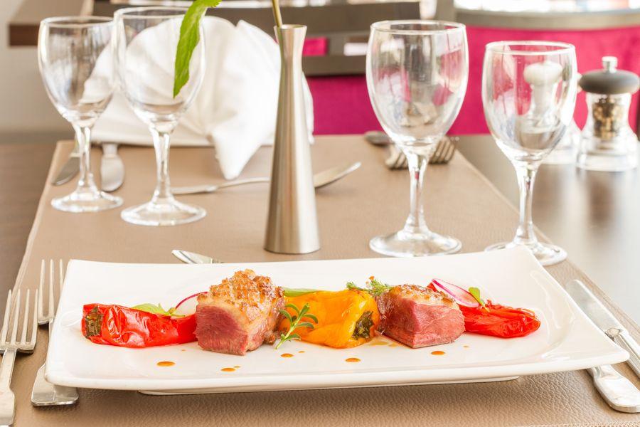 Hôtel des Chateaux Plat restaurant