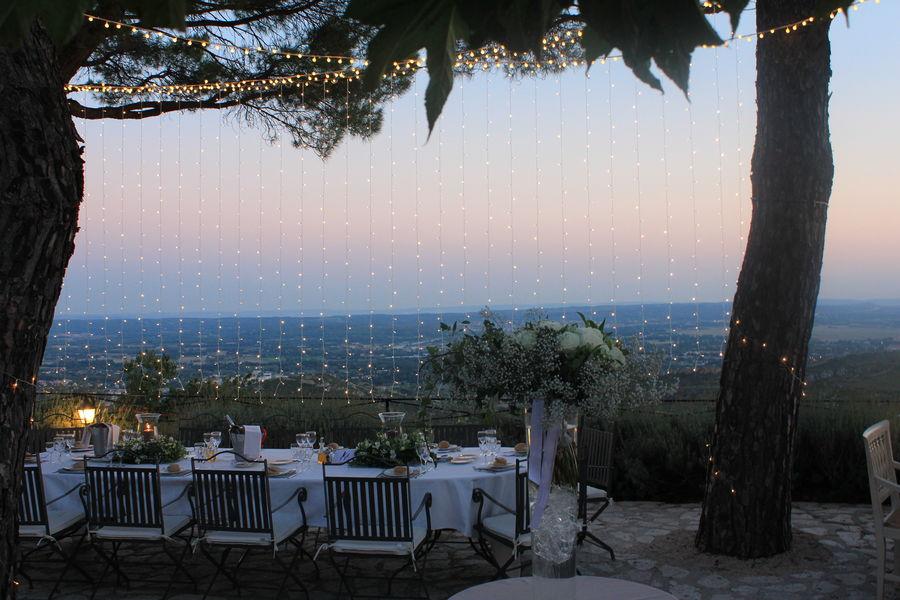 Abbaye de Sainte Croix **** Diner au coucher de soleil en terrasse