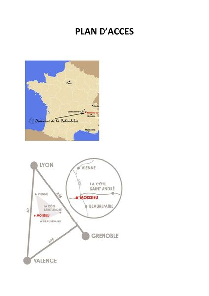Domaine de la Colombière *** Plan d'acces