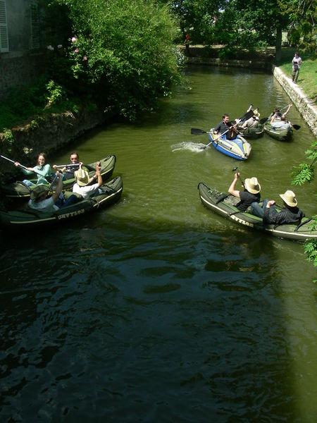 Domaine de Quincampoix Course de canoës