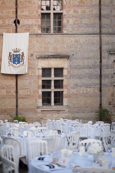 Château de Caumont diner cour