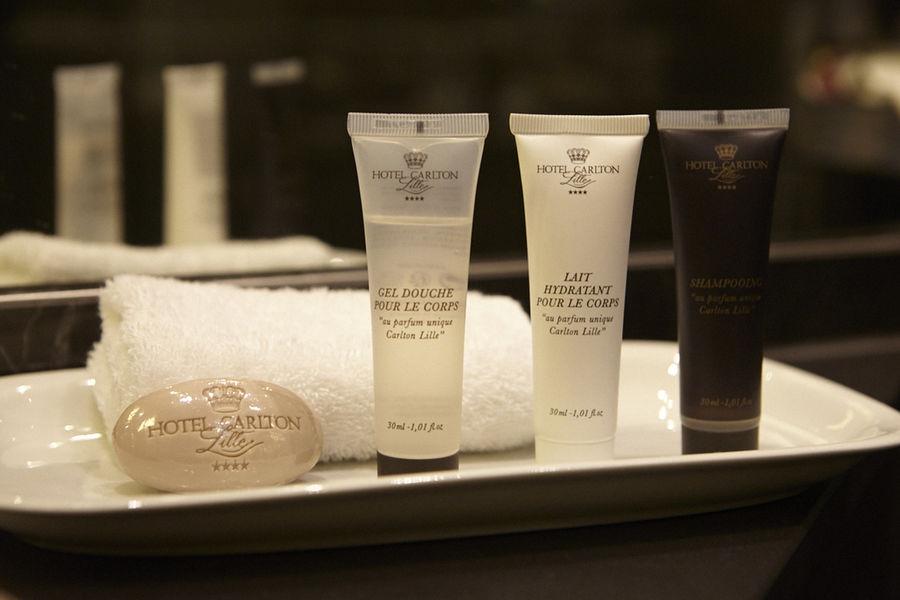 Hôtel Carlton **** Produits d'accueil créés pour l'hôtel Carlton avec un parfum unique