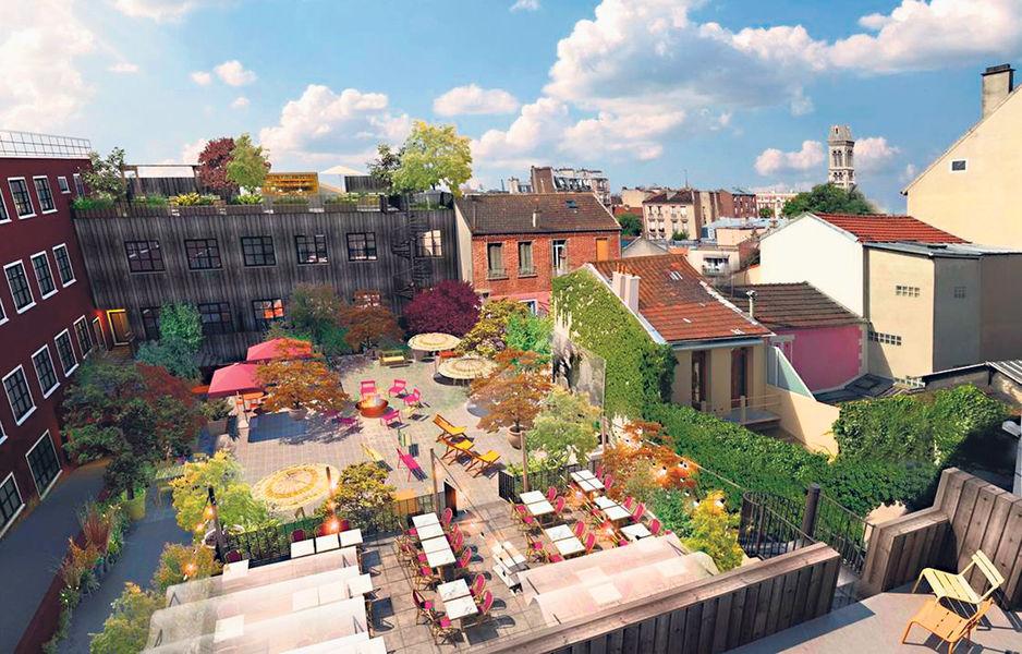 Mob Hôtel - Paris les Puces Terrasse