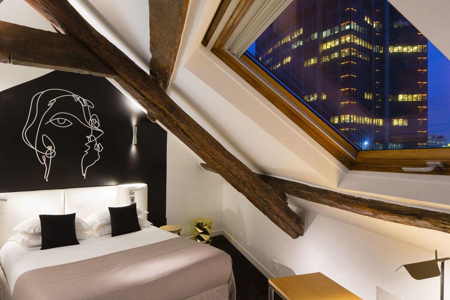 Hôtel Montparnasse Saint-Germain *** chambre double mansardée