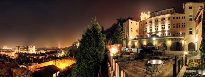 Villa Florentine de nuit