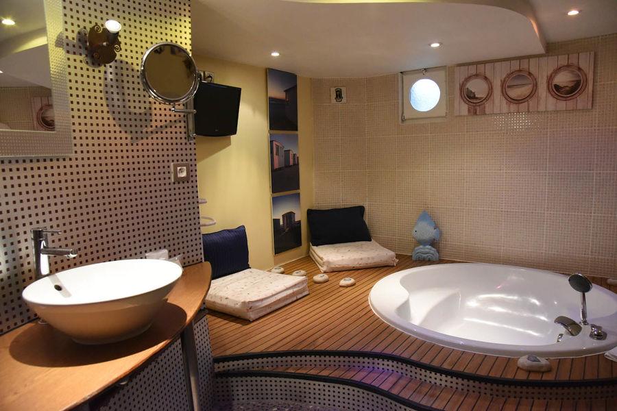 La Châtellerie de Schoebeque sallle de bain chambre la mer