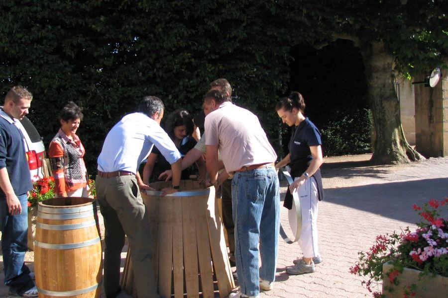Château de Pizay **** cohésion d'équipe :  :épreuve du tonnelier