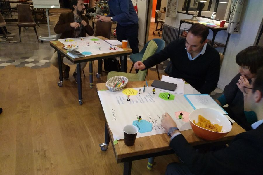 La Filature Atelier en petit groupe lors du Meetup de l'Association des Facilitateurs