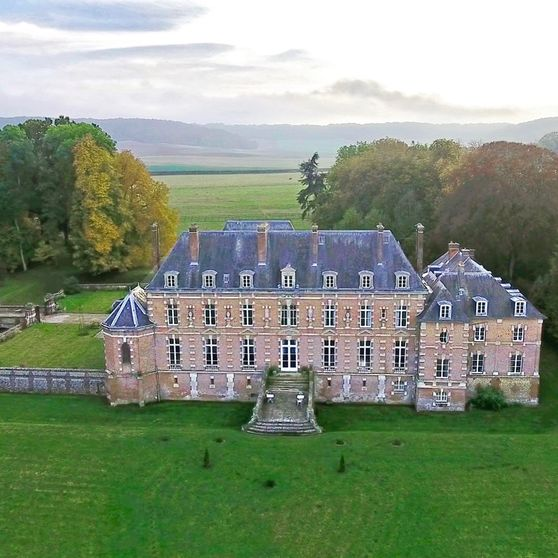 Château d'Auteuil vu d'un drone