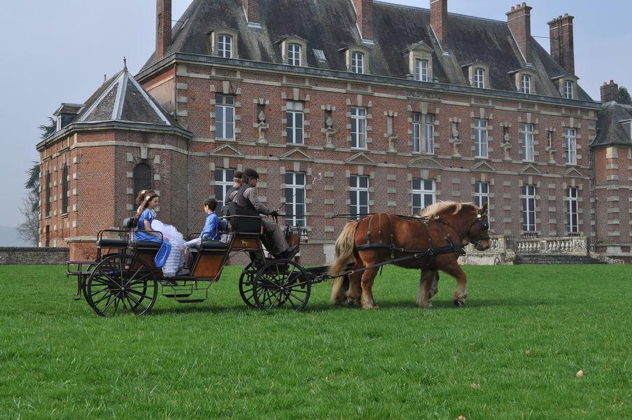 Château d'Auteuil  Ballade en calèche dans le Parc