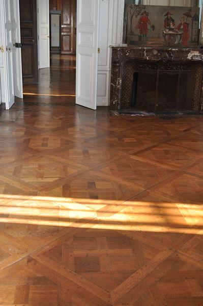 Château d'Auteuil  Grand Salon, parquet Versailles