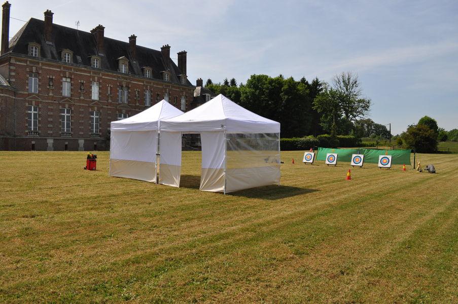 Château d'Auteuil  Parc de 3 hectares, préparatif tir à l'arc