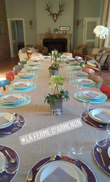 Ferme d'Armenon Table du déjeuner