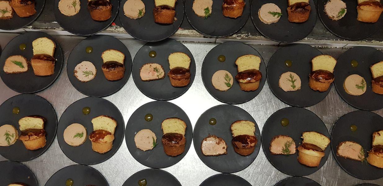 Nord Marais Dressage du Foie Gras et de la Brioche maison (les deux) pour un dîner assis