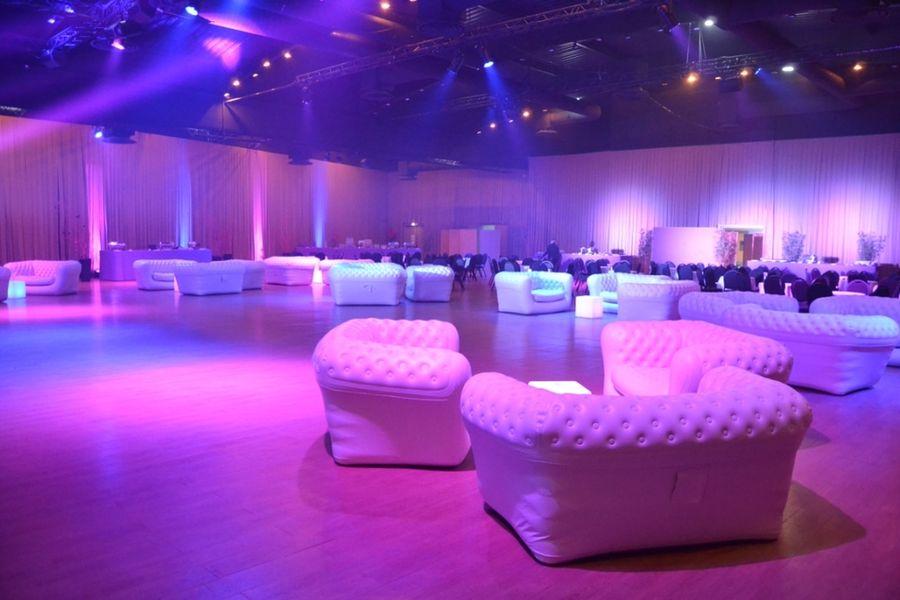Espace événementiel Les Esselières Salle Capella en soirée dansante