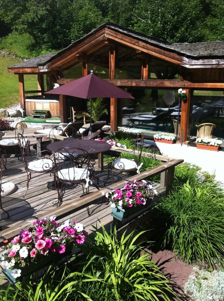 Hôtel du Jeu de Paume Chamonix  Terrasse