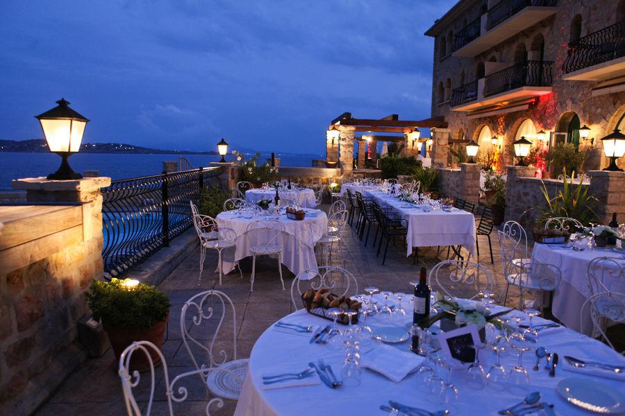 Les Îles Paul Ricard - Hôtel Delos Palais **** Terrasse Restaurant Delos