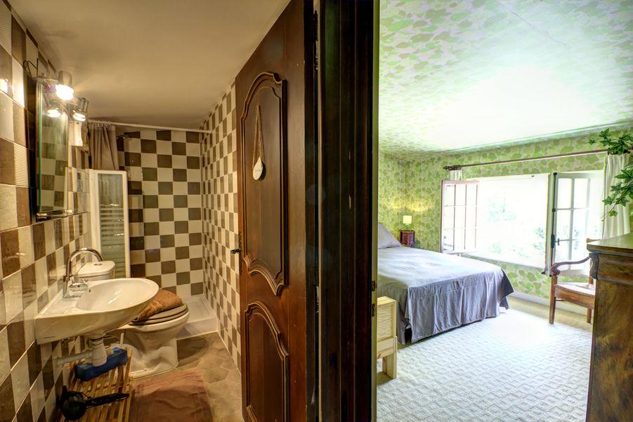 Gite Des Roties salle de bain douche