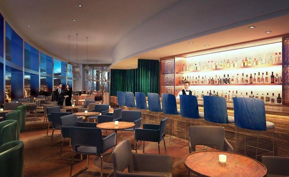 Hôtel Hyatt Regency Paris Étoile **** Bar du 34e étage - Vue a 180° sur Paris et la tour Eiffel