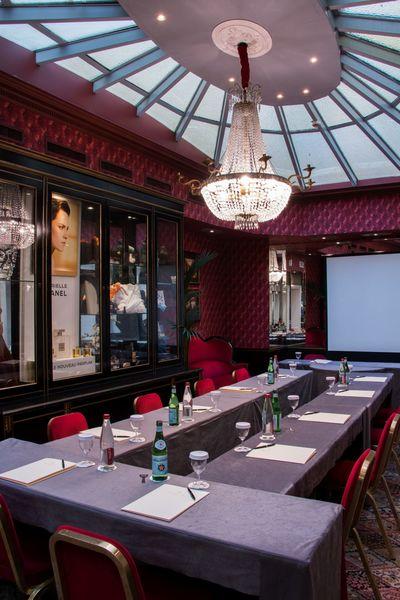 """Grand Hôtel de l'Opéra **** Salon Verrière en disposition """"U"""""""
