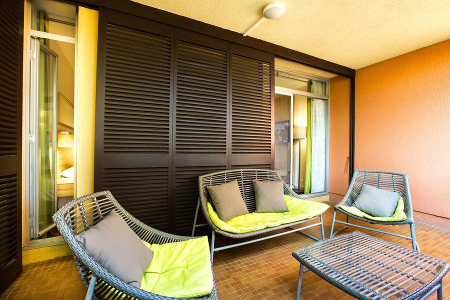 Hôtel Delcloy Terrasse chambre