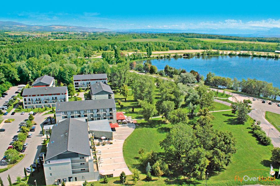 Villa du Lac Hôtel vu du ciel