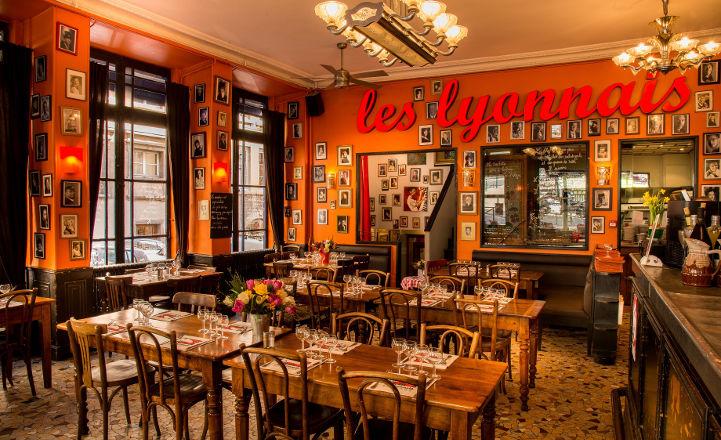 Bouchon Les Lyonnais Salle du restaurant