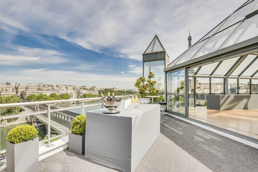 Rooftop Paris Terrasse vue Seine