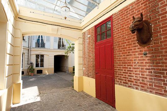 Hotel Particulier Iena La cour intérieure