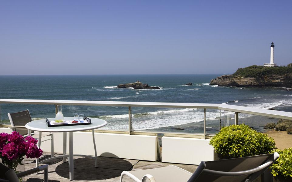 Sofitel Biarritz le Miramar Thalassa Sea & Spa ***** La terrasse d'une suite