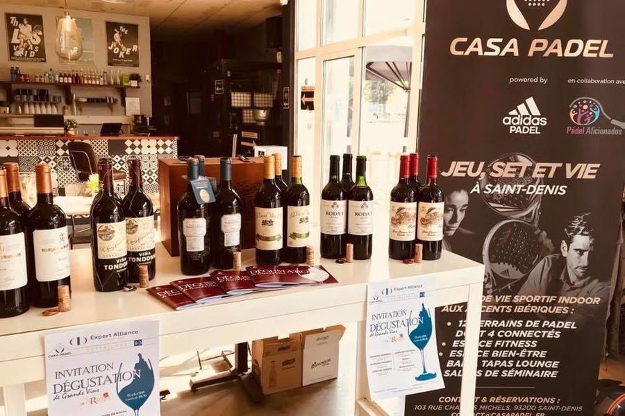 Casa Padel UNO Exemple de prestation (dégustation de vins)