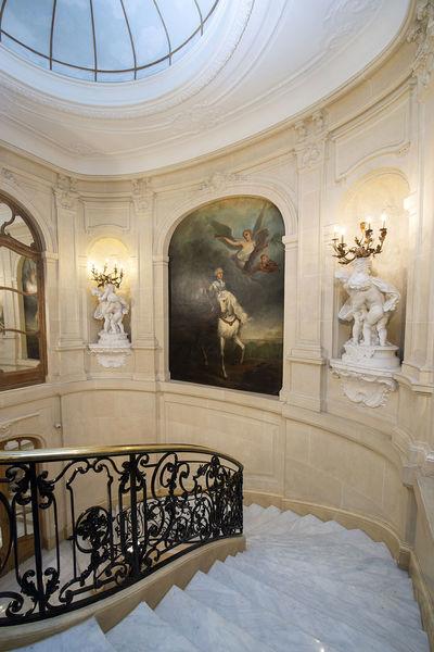 Hôtel Particulier Wagram ETOILE WAGRAM - haut escalier d'honneur