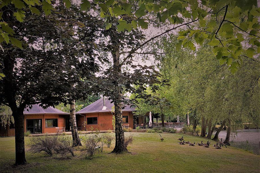 Les Etangs de l'Abbaye Parc arboré au bord d'un étang
