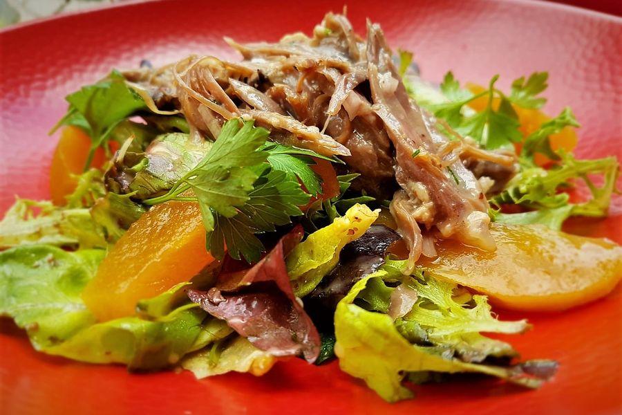 Les Etangs de l'Abbaye Salade de confit de canard