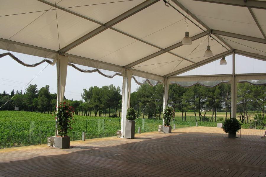 Domaine de Verchant  Hôtel & Spa ***** Terrasse couverte surplombant le vignoble