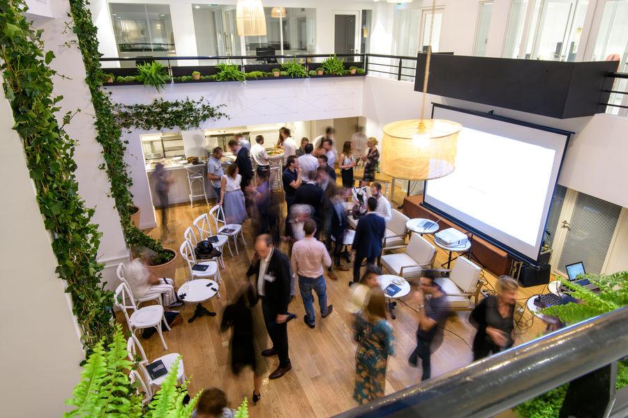 The Babel Community Repas / Cocktails d'entreprise dans l'Atrium
