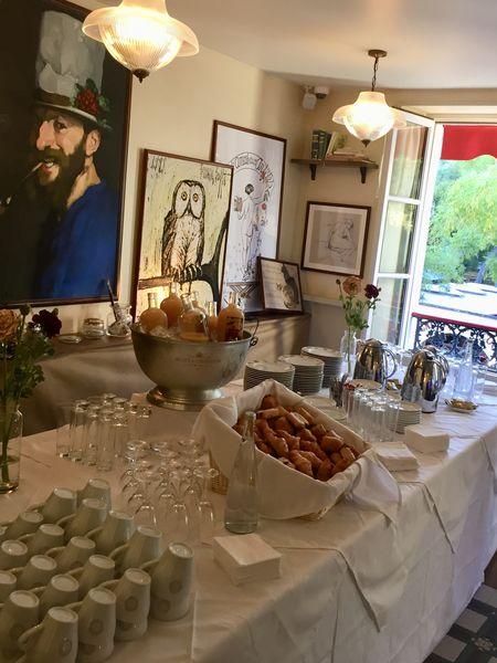 La Mère Catherine Buffet petit déjeuner d'entreprise, salle d'artistes