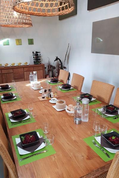 Hermitage de Moly Repas dans la salle de déjeuner