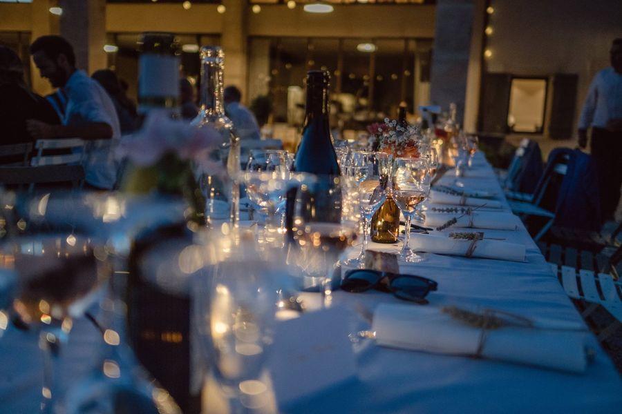 Mas de Saint Chétin Réception dîner extérieur