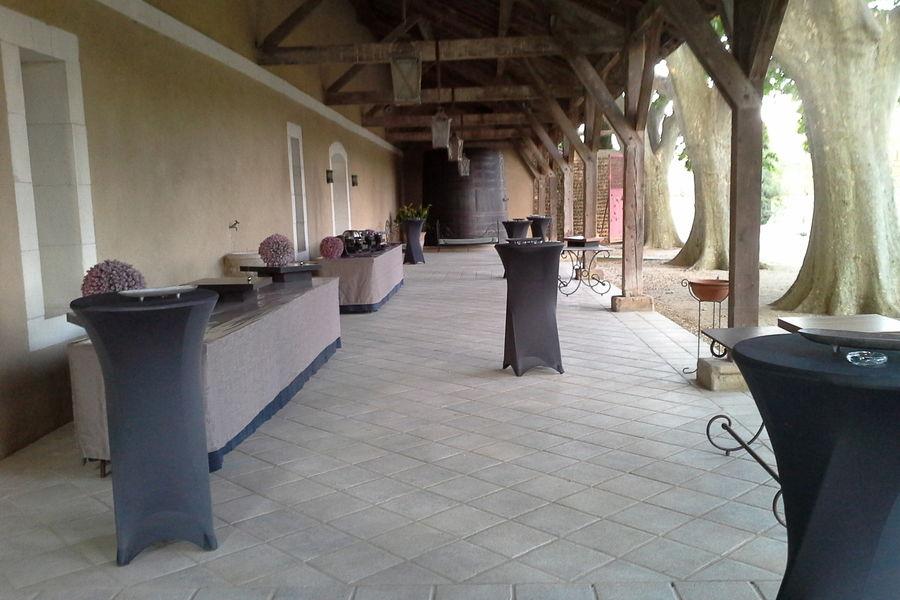 Château de Vergières Buffet sur la terrasse