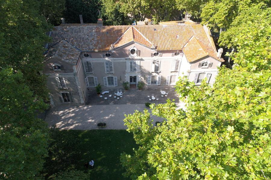 Château de Vergières Vue aérienne du Château