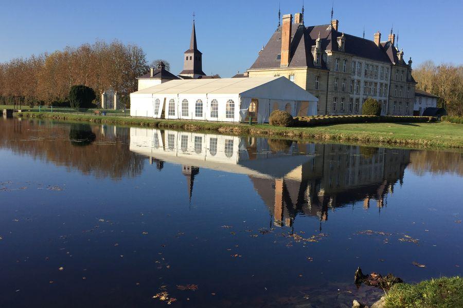 Château de Vitry-la-Ville L'étang de la carpière