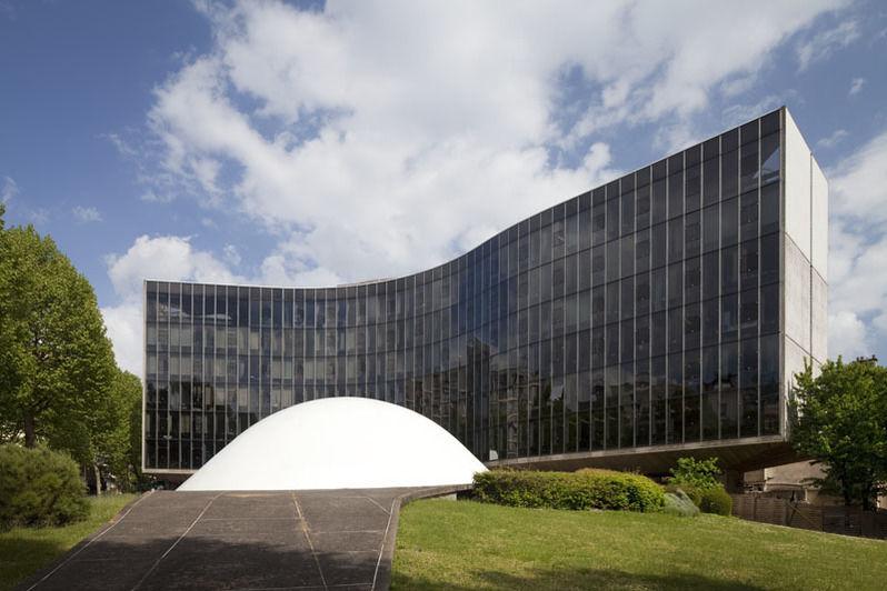 Espace Niemeyer Le bâtiment extérieur