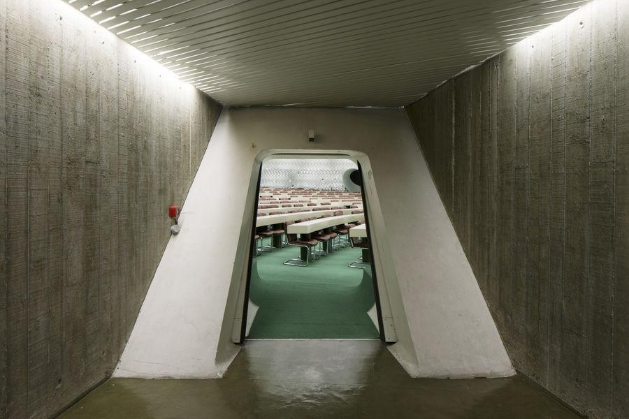 Espace Niemeyer entrée coupole